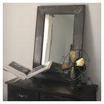 relooking chambre ambiance industriel miroir métal