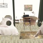 Rélaisation home staging virtuel chambre d' enfant