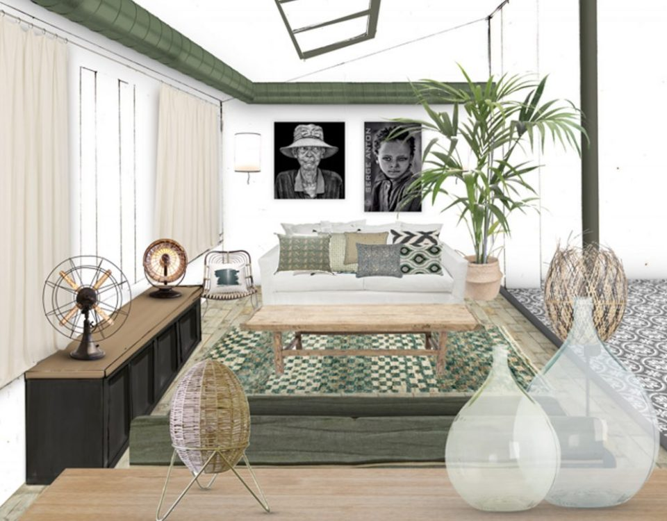 Réalisation home staging salon campagne chic