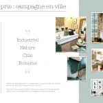 Reoloking d'intérieur salon moodboard industriel scandinave campagne chic