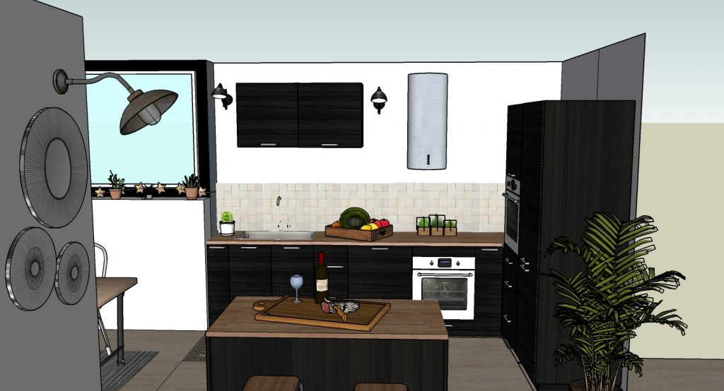 Renovation_Cuisine-Zellige_Bois_Noir-Mat